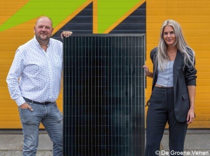 Peter Homan en Patty Duinker van Homan Solar in Mijdrecht.