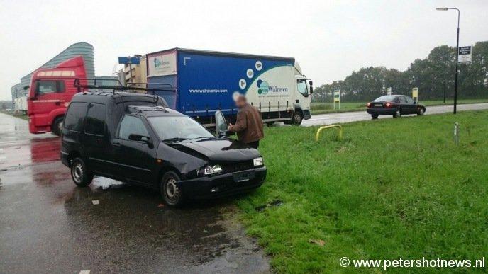 De vrachtwagen is niet betrokken bij het ongeval