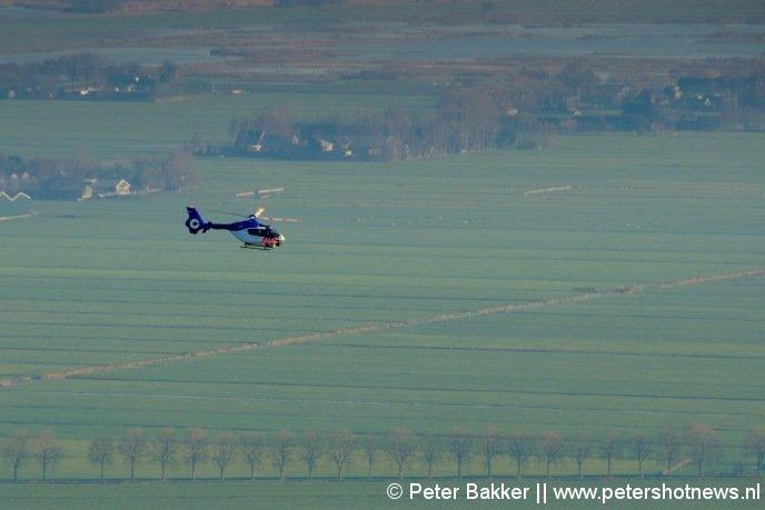 De winnende foto, de politiehelikopter boven Mijdrecht