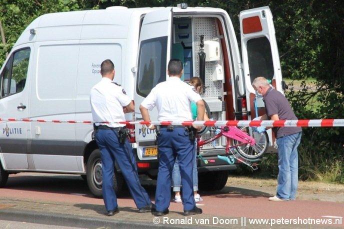Het gevonden fietsje aan de Bachlaan Aalsmeer donderdagmorgen