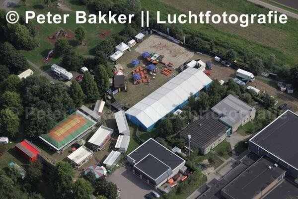 Luchtfoto Wilnis Festival 2013