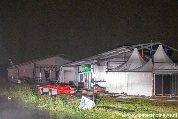 Vinkefest tent verwoest.