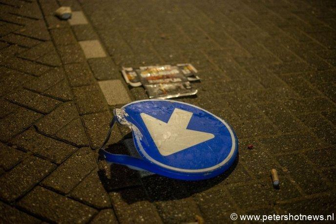 Verkeersbord vernield