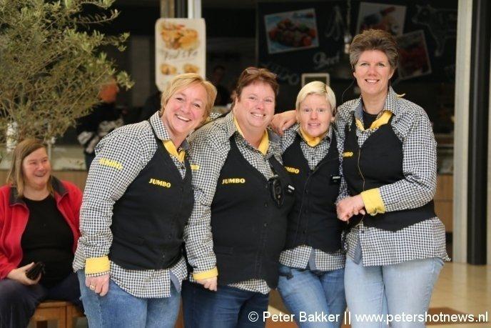 De medewerkers bij de Jumbo in Vinkeveen konden er wel om lachen...