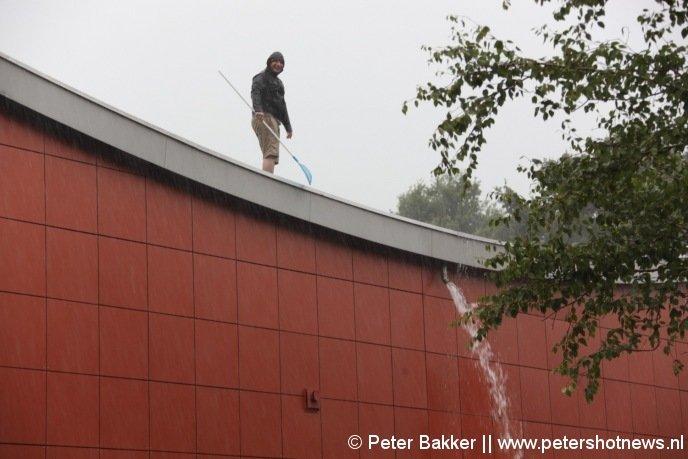 Het dak van Partycentrum de Meijert