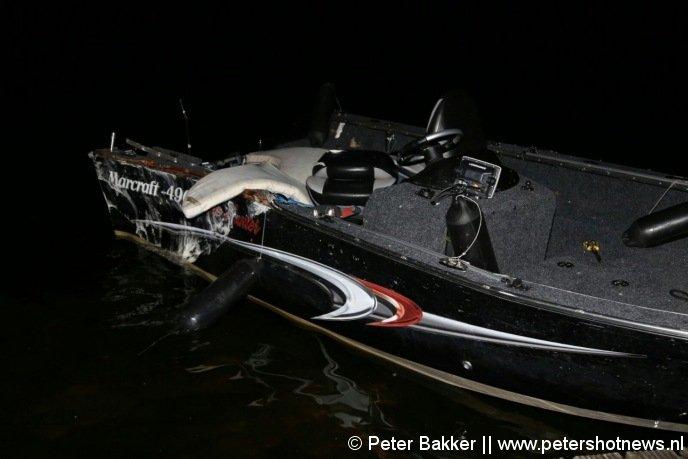 Deze boot werd overvaren