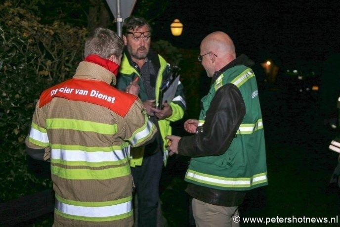 v.l.n.r: Officier van dienst brandweer, officier van dienst geneeskunde en de adviseur gevaarlijke stoffen van de brandweer