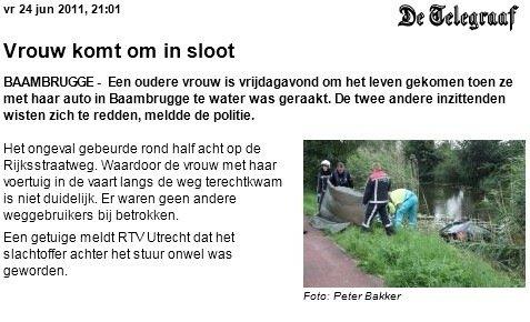 Publicatie op telegraaf.nl (24-06-2011)